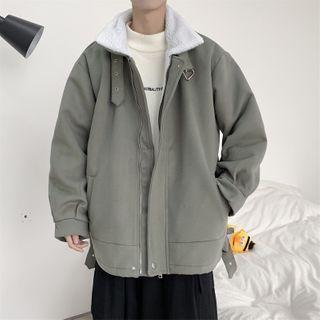 Naideth - Plain Fleece-Lined Jacket