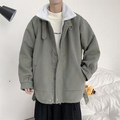 Naideth - 纯色内加绒外套