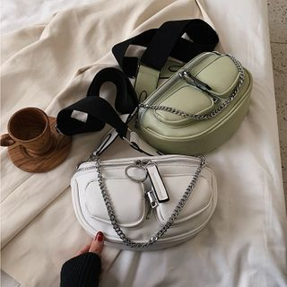 BAGSHOW - Faux Leather Belt Bag