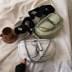 BAGSHOW(バッグショウ) - Faux Leather Belt Bag