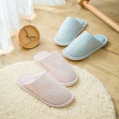 Rewine - Couple Matching Striped Slippers