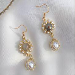 Kokyu - Faux Pearl Dangle Earring