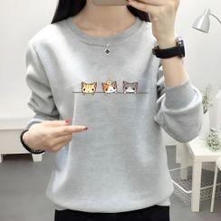 Manki - Cat Print Pullover