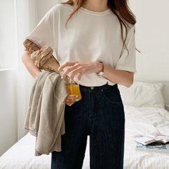 Envy Look - Round-Neck Plain T-Shirt