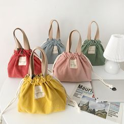 Sacculi(サックリ) - Corduroy Drawstring Lunch Bag
