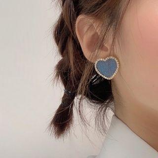 Calypso - Rhinestone Denim Heart Earring