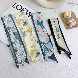 LANWO - 印花窄圍巾