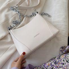 Kunado - Lettering Chain Crossbody Bag