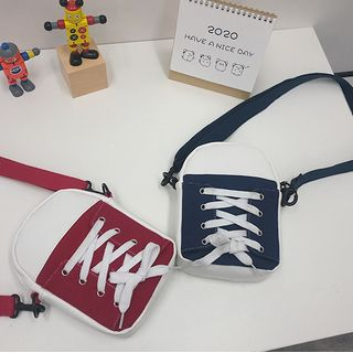 Nothic - Lace-Up Canvas Crossbody Bag