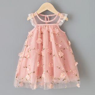 Cuckoo - Kids Floral Sleeveless A-line Dress