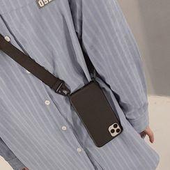 BABYCASE - Plain Neck Strap Phone Case - iPhone 11 Pro Max / 11 Pro / 11 / SE / XS Max / XS / XR / X / SE 2 / 8 / 8 Plus / 7 / 7 Plus