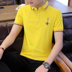 Andrei(アンドレイ) - Short-Sleeve Embroidered Polo Shirt