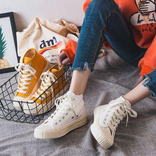Shanhoo - High-Top Canvas Sneakers