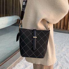Youshine - Contrast Stitching Bucket Bag