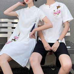 Tabula Rasa - Couple Matching Short-Sleeve T-Shirt / Dress / Shorts