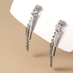 A'ROCH - Bar & Chained Sterling Silver Fringed Earring