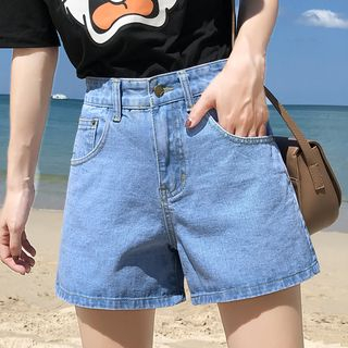 Tiny Times - Wide-Leg Denim Shorts