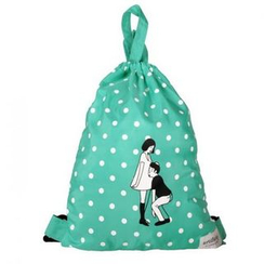 LIFE STORY(ライフ ストーリー) - 'kiitos' Series Drawstring Illustrated Backpack