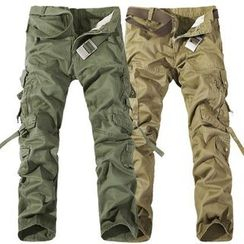 Sheck - Cargo Straight-Cut Pants