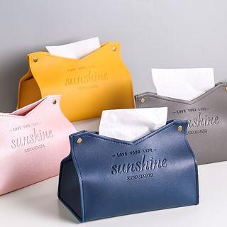 Kawa Simaya - Lettering Leather Tissue Box