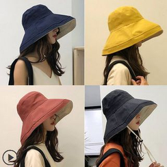 FROME - Reversible Wide Brim Bucket Hat