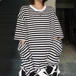 Banash - 条纹长袖T裇