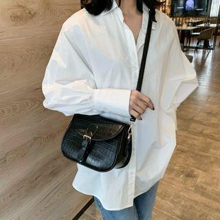Cipres - Plain Saddle Crossbody Bag