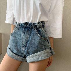 Attune - 高腰寬鬆牛仔褲