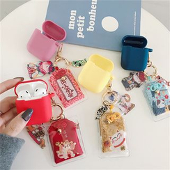 Lampascione - Silicone AirPod Earphone Case Protection Cover + Amulet Keychain