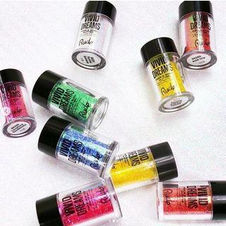 RUDE - Vivid Dreams Face & Body Glitter (6 Colors), 2.7g