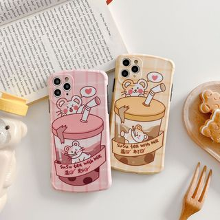 Wild Pony - Bubble Tea Print Phone Case for iPhone 7 / 7 Plus / 8 / 8 Plus / X / XS / XR / XS Max / 11 /11 Pro / 11 Pro Max