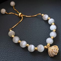 Catalunya - Cat Eye Stone / Genuine Pearl Bracelet