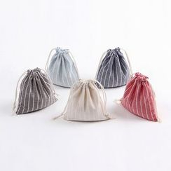 Eastin(イースティン) - Striped Drawstring Pouch