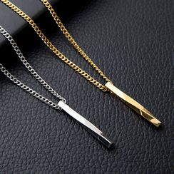 Tinseltown - Stainless Steel Bar Pendant Necklace