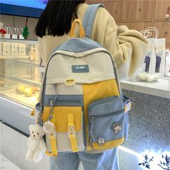 Tango Sky - Color Block Multi-Section Backpack