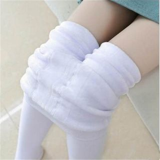 Huasha - Kids Fleece-Lined Plain Tights