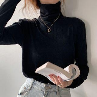 Ashlee - Long-Sleeve Turtle Neck T-Shirt