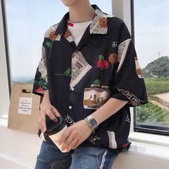 Wescosso - Print Short-Sleeve Shirt