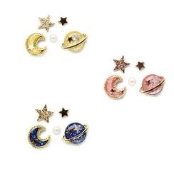 Yambo - Moon & Star Stud Earring Set