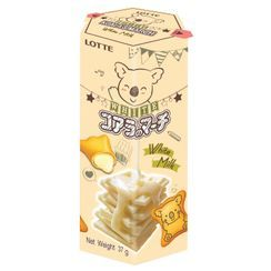 LOTTE - [Limited] White Koala's March Condensed Milk Filled Biscuits 37g