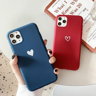 TreaSURE - Heart Print Mobile Case - iPhone 11 Pro Max / 11 Pro / 11 / XS Max / XS / XR / X / 8 / 8 Plus / 7 / 7 Plus / 6s / 6s Plus