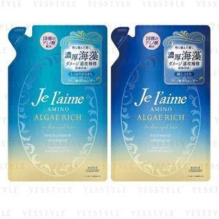 Kose - Je l'aime Amino Algae Rich Shampoo Refill 350ml - 2 Types