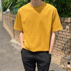 Seoul Homme - Round-Neck Basic T-Shirt