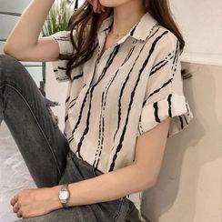 Drallop - Short-Sleeve Striped Shirt