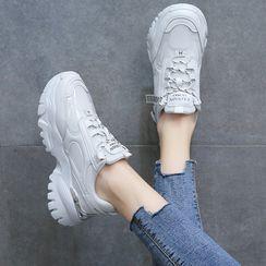 Yuki Yoru - Lace Up Platform Sneakers