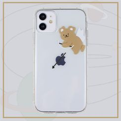 KeCase - Bear Cupid Angel Print Transparent Phone Case - iPhone 11 Pro Max / 11 Pro / 11 / SE / XS Max / XS / XR / X / SE 2 / 8 / 8 Plus / 7 / 7 Plus