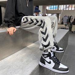 MIKAEL - 抽绳脚口宽腿运动裤