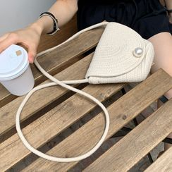 DEEPNY(ディープニー) - Faux-Pearl Flap Crossbody Bag