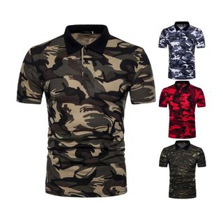 Hansel - Camo Short-Sleeve Polo Shirt