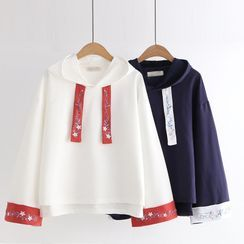 Cat Planet - Embroidered Hoodie